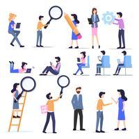 Freiberuflicher Leute-Zeichensatz des Geschäfts vektor