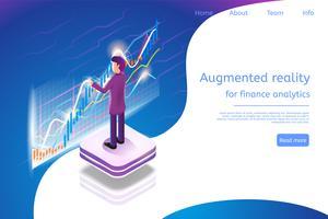 Isometrisk förstärkt verklighet för finansanalys vektor