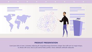 Man ger presentationsanförande vektor