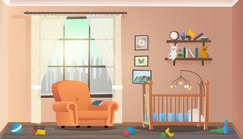 Barn sovrum vektor