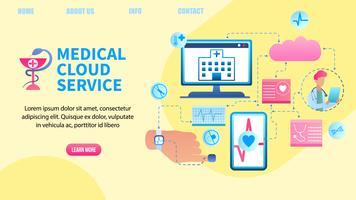 Patientendatenübertragungssystem vektor