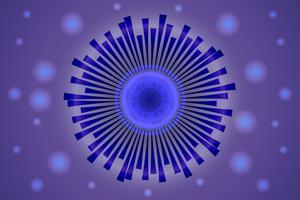 digitales Augenkommunikationskonzept für Technologiehintergrund