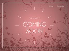 Webbplatsens målsida med blommig design