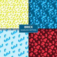 Brick Pattern Set spielen vektor