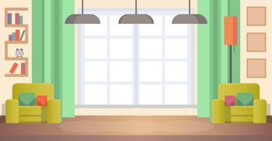 Wohnzimmer zu Hause vektor