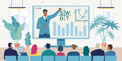Videokonferens med affärsteam