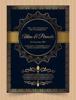 Hochzeitseinladungskarte Vorlage. vektor