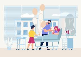 Neugeborene besuchen