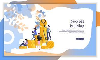 Teambuilding-Finanzstrategie vektor