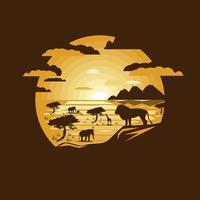 Savanna landskap