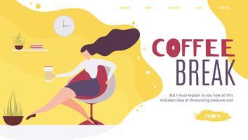 Kaffeepause-Webseite vektor