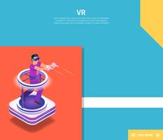 Man som spelar VR-videospel vektor