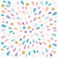 Festligt mönster med färgstänk och glitterfläckar.