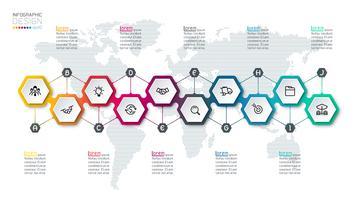 Hexagon Inforgraphics