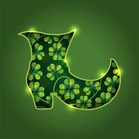 St. Patrick Boot mit Klee
