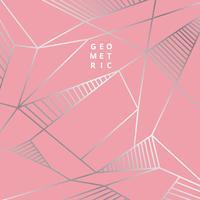 Geometriska linjer i silver på rosa färger