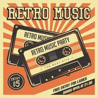 Retro Kassetten Vintage Beschilderung vektor