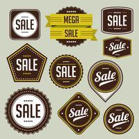 Verkauf-Abzeichen-Set