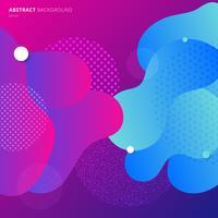 Buntes modernes geometrisches flüssiges Farbsteigungsmuster vektor