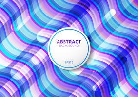 Våg moderna färgglada flytande mönster