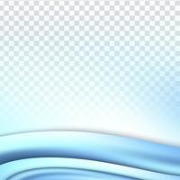 Abstrakt blå vågig transparent bakgrund vektor