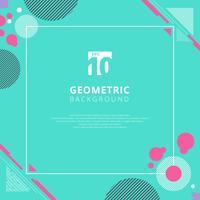 Geometriskt mönster för rosa cirkel på bakgrund för blå färg med kopieringsutrymme