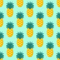 Sömlös ananasfruktmönstervektor