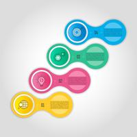 Infografik-Design-Business-Konzept mit 4 Optionen, Teile oder Prozesse.