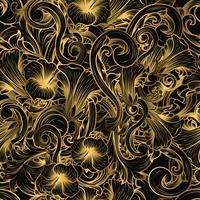 Lyxigt sömlöst mönster vektor