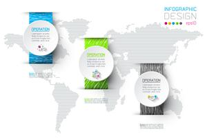 Business-Infografik mit 3 Schritten