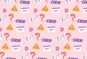 handritad fel problemlösning mönster bakgrund