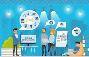 Freiberufliche NFC-Präsentation bei Coworking Space