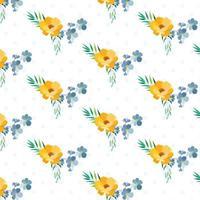 Polka Dot Layered Floral mönster design vektor