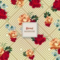 Vintage Floral Hintergrunddesign