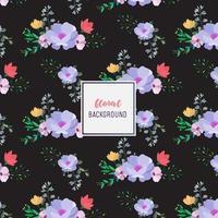 Dunkles Blumenmusterdesign