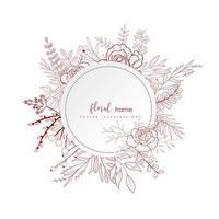 Winter-Blumenrahmenentwurf vektor
