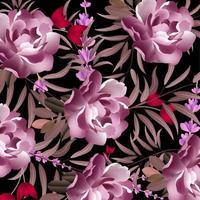 Modern blommönster vektor