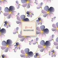 Vacker lila blomma blommönster design vektor