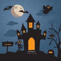 Halloween Night bakgrund vektor