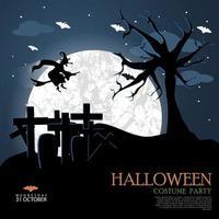 Halloween natt mall vektor
