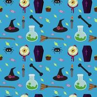 Sömlös blå mönster för Halloween