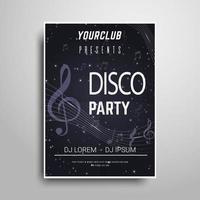 B & W Party Plakat Vorlage