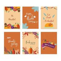 Uppsättning Thanksgiving Cards