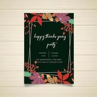 Happy Thanksgiving Party-affischdesign