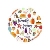 Thanksgiving Food Kartenentwurf vektor