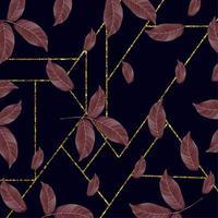 Blommig bakgrundsdesign för guld- ram