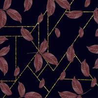 Modernes goldenes Rahmen-Blumenhintergrunddesign vektor