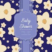 Blommig design av duschkort för baby