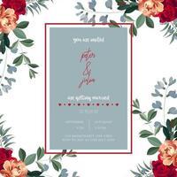 Blommor bröllop inbjudningskort