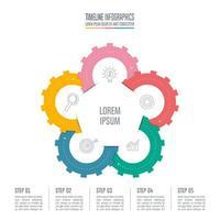 Infographik Design Geschäftskonzept mit 5 Optionen.